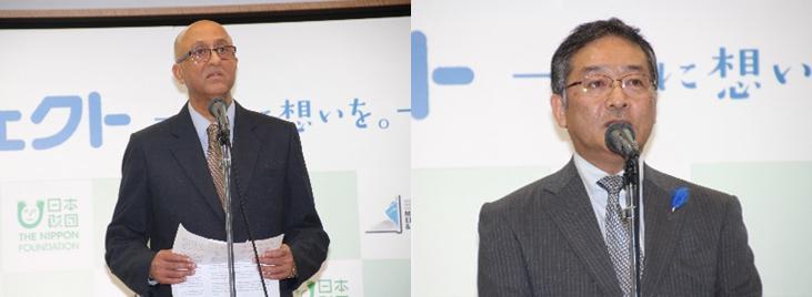 左:マハパトラIMO上級次長/右:武藤国土交通審議官